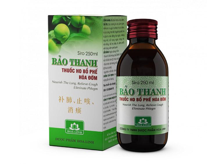 Siro ho Bảo Thanh được bán với giá khoảng 42.000 đồng/ chai 125ml