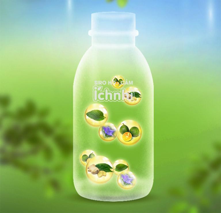 Siro ho cảm Ích Nhi chỉ yếu chứa các dược liệu thiên nhiên lành tính như: quất, húng chanh, gừng, mạch môn, mật ong nguyên chất,...