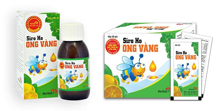 Sản phẩm siro ho Ong Vàng được bày bán rộng rãi tại các hiệu thuốc Tây y hoặc các trang thương mại điện tử