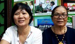 Chị Thanh Vân và mẹ