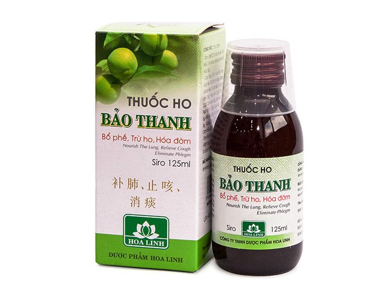 Siro ho Bảo Thanh là một sản phẩm của Công ty Dược phẩm Hoa Linh