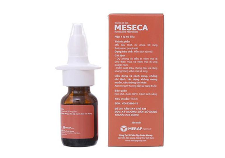 Thuốc xịt mũi chữa viêm xoang Meseca