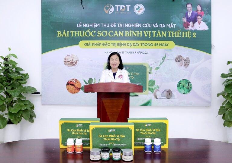TS.BS Vân Anh phát biểu