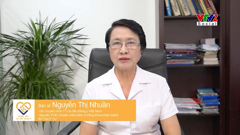 Bác sĩ Nguyễn Thị Nhuần có hơn 40 năm kinh nghiệm hỗ trợ điều trị bệnh bằng thảo dược Đông y